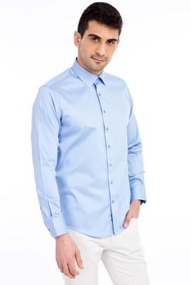 Uzun Kol Klasik Düz Saten Slim Fit Gömlek
