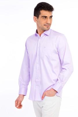 Erkek Giyim - Uzun Kol Klasik Saten Gömlek