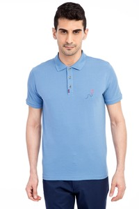 Erkek Giyim - Regular Fit Nakışlı Polo Yaka Tişört