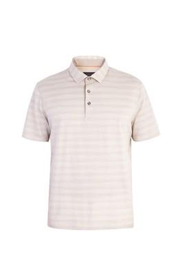 Erkek Giyim - Regular Fit Çizgili Polo Yaka Tişört