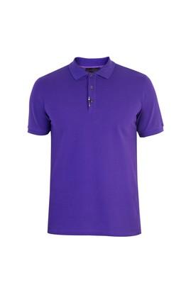 Erkek Giyim - Regular Fit Boncuklu Nakışlı Polo Yaka Tişört