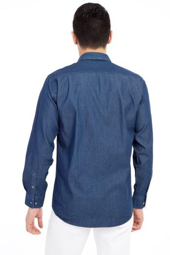 Erkek Giyim - Uzun Kol Denim Gömlek