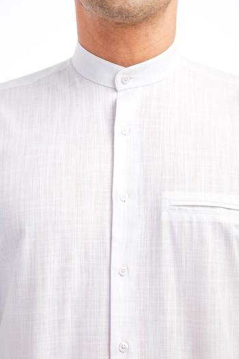 Erkek Giyim - Uzun Kol Hakim Yaka Gömlek