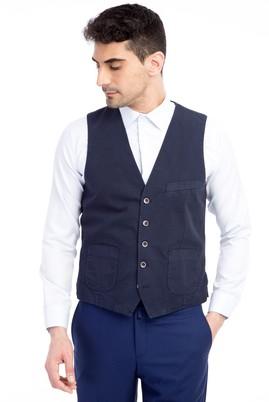 Erkek Giyim - Lacivert 46 46 Klasik Yelek