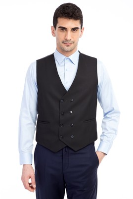 Erkek Giyim - Desenli Kruvaze Yelek
