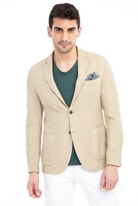 Erkek Giyim - Bej 52 52 Desenli Ceket