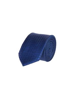 Erkek Giyim - Lacivert 65 65 Desenli İnce Kravat