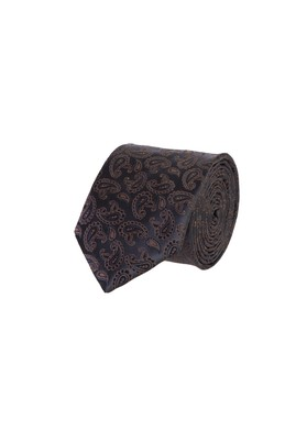 Erkek Giyim - Siyah 65 65 Desenli İnce Kravat
