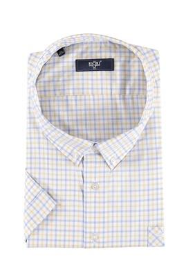 Erkek Giyim - King Size Kısa Kol Ekose Gömlek