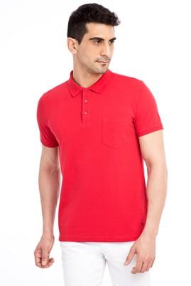 Erkek Giyim - Kırmızı 3X 3X Polo Yaka Regular Fit Tişört
