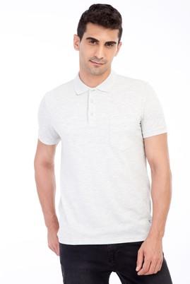Erkek Giyim - Orta füme 3X 3X Polo Yaka Regular Fit Tişört