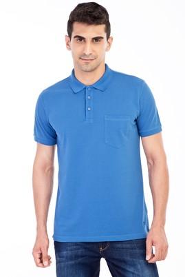 Erkek Giyim - Mavi XL XL Polo Yaka Klasik Regular Fit Tişört