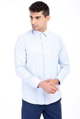 Erkek Giyim - Açık Mavi XXL XX Uzun Kol Desenli Klasik Gömlek