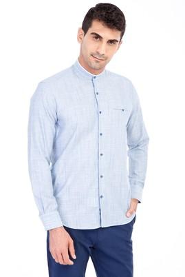 Erkek Giyim - Mavi M M Uzun Kol Desenli Slim Fit Gömlek