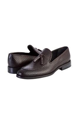 Erkek Giyim - Püsküllü Deri Klasik Ayakkabı