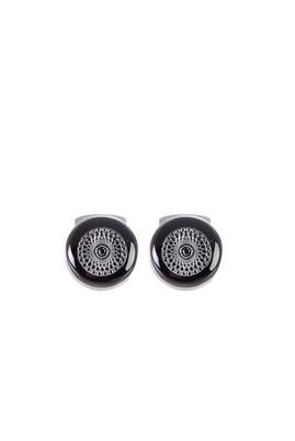 Erkek Giyim - Siyah STD 00 Yuvarlak Kol Düğmesi