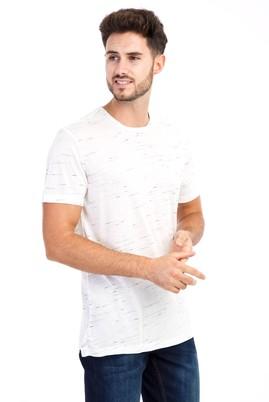 Erkek Giyim - Bisiklet Yaka Desenli Tişört