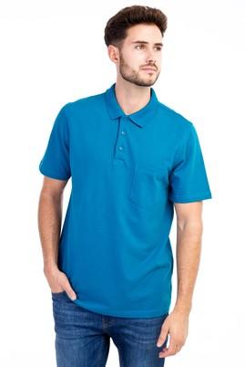 Erkek Giyim - Petrol S S Polo Yaka Klasik Tişört