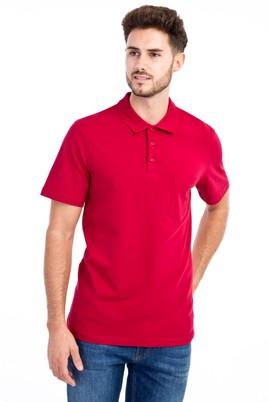 Erkek Giyim - Kırmızı M M Polo Yaka Klasik Tişört