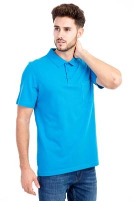 Erkek Giyim - Turkuaz 3X 3X Polo Yaka Klasik Tişört