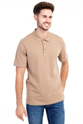Erkek Giyim - VİZON 3X 3X Polo Yaka Klasik Tişört