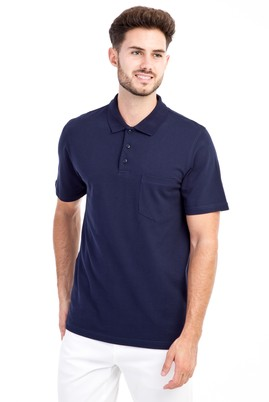Erkek Giyim - Lacivert S S Polo Yaka Klasik Tişört