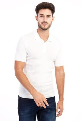 Erkek Giyim - Polo Yaka Örme Slim Fit Tişört