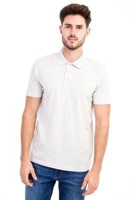 Erkek Giyim - Orta füme 3X 3X Polo Yaka Slim Fit Tişört