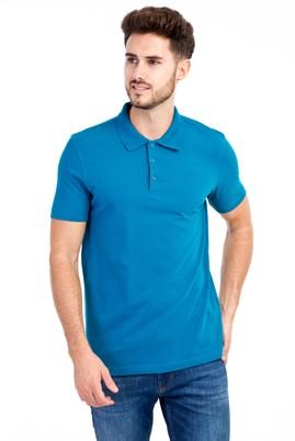 Erkek Giyim - Petrol 3X 3X Polo Yaka Slim Fit Tişört
