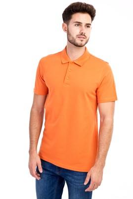 Erkek Giyim - Turuncu L L Polo Yaka Slim Fit Tişört