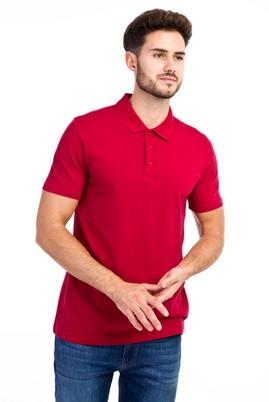 Erkek Giyim - Kırmızı 3X 3X Polo Yaka Slim Fit Tişört