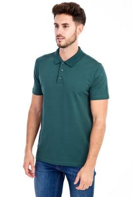 Erkek Giyim - KOYU YESİL 3X 3X Polo Yaka Slim Fit Tişört