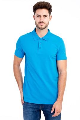 Erkek Giyim - Turkuaz 3X 3X Polo Yaka Slim Fit Tişört
